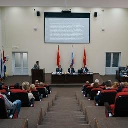 На площадке Дальрыбвтуза прошла IV международная научно-техническая конференция, посвященная актуальным проблемам освоения водных биоресурсов. Фото пресс-службы вуза
