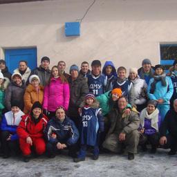 Участники «Рыбацкой лыжни-2015» – фотография на память