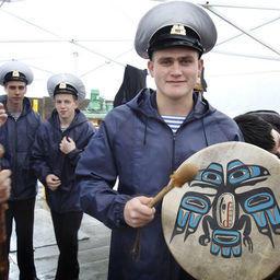 УПС «Паллада» встретили в порту Ситка.