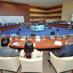 Пленарное заседание Международного конгресса рыбаков во Владивостоке в сентябре 2016 г.