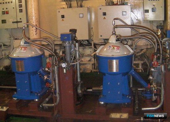 Сепарационные установки топлива «Альфа Лаваль» на рыболовном траулере