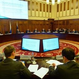 Защита прав инвесторов в ДФО обсуждалась на совместном заседании коллегий Генпрокуратуры и Минвостокразвития в Хабаровске. Фото пресс-службы Минвостокразвития