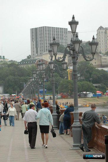 Празднование Дня рыбака во Владивостоке