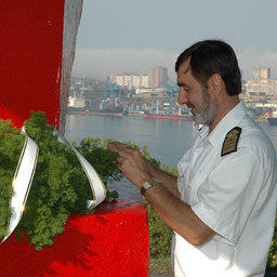 Открытие обновленного мемориала «Рыбацкая слава». Владивосток, сентябрь 2007 г.