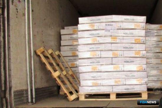 Ростовские таможенники задержали более 19 тонн мороженой сельди из Норвегии. Фото пресс-службы Южного таможенного управления