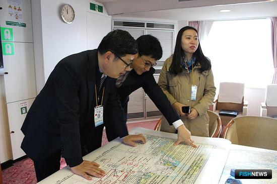 Представители Южной Кореи присутствовали в качестве наблюдателей. Фото ФГБУ «Администрация морских портов Приморского края и Восточной Арктики»