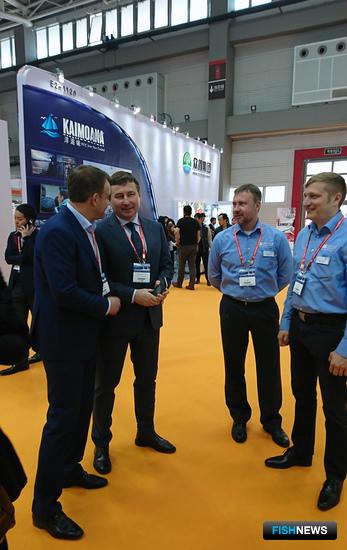 Российская рыбная промышленность вновь была представлена в Циндао объединенным стендом, организованным при поддержке Росрыболовства