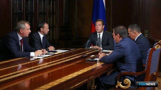Совещание с вице-премьерами. Фото пресс-службы Правительства РФ.