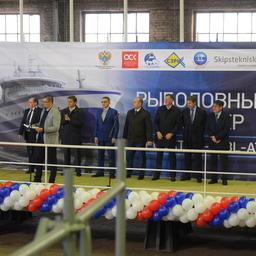 Траулер «Баренцево море» для АТФ заложили на Выборгском судостроительном заводе