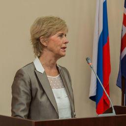Чрезвычайный и полномочный посол Исландии Сигридур Берглинд АСГЕЙРСДОТТИР. Фото пресс-службы Дальрыбвтуза