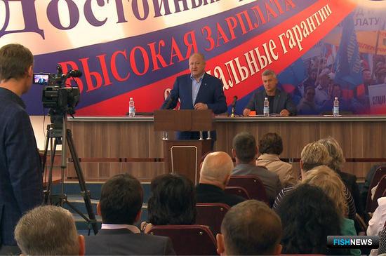 Глава Камчатского края Владимир Илюхин принял участие в расширенном заседании совета региональной Федерации профсоюзов. Фото пресс-службы правительства региона