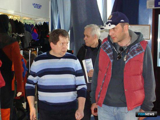 Генеральный директор ФГУП «Нацрыбресурс» Станислав СТАНДРИК (справа)