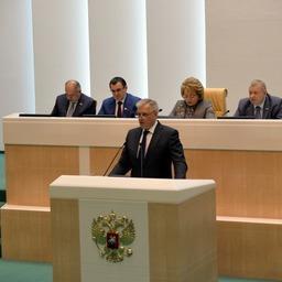Руководитель Россельхознадзора Сергей ДАНКВЕРТ выступил в Совете Федерации. Фото пресс-службы ведомства