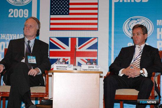 Консультант «Frozen Fish International», профессор Михаэль БОККИШ и президент Ассоциации добытчиков минтая Герман ЗВЕРЕВ