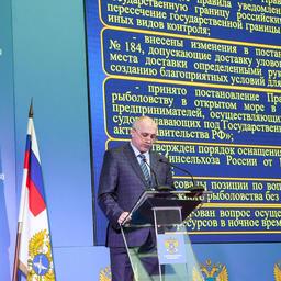 Замруководителя Пограничной службы ФСБ России – руководитель департамента береговой охраны Геннадий МЕДВЕДЕВ