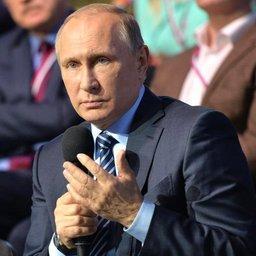 Глава государства Владимир ПУТИН на форуме ОНФ. Фото пресс-службы президента