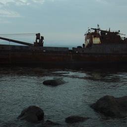 Брошенное судно у побережья Итурупа