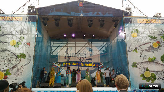 Главную сцену фестиваля установили на Кронверкской площадке Заячьего острова у стен Петропавловской крепости