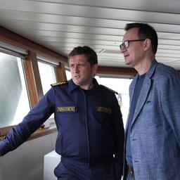 Руководитель Росрыболовства Илья ШЕСТАКОВ и главный редактор журнала «Fishnews – Новости рыболовства» Эдуард КЛИМОВ