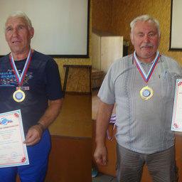 Петр КИСЕЛЕВ (слева) и Борис БУДАНЦЕВ удостоены медалей за большой вклад в развитие физкультурно-спортивного движения
