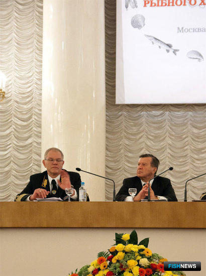 Андрей Крайний и Виктор Зубков на III Всероссийском съезде работников рыбного хозяйства