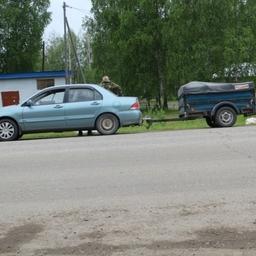 Транспорт задержанного. Фото пресс-службы УМВД России по Томской области