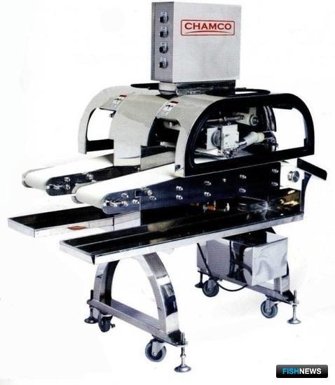 Машина Chamco для автоматического удаления игольчатых костей из филе лососевых