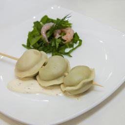 Равиоли с морепродуктами и шпинатом, изготовленные с использованием добавок Schaller Premium