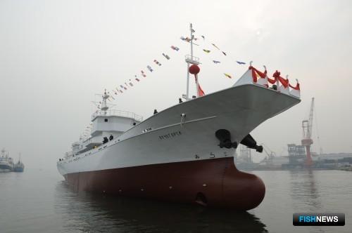 Преображенская база тралового флота отправила на промысел новый сайролов «Лучегорск». Фото пресс-службы ПБТФ