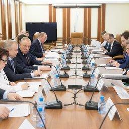 Заседание рабочей группы по мониторингу принятия нормативно-правовых актов, предусмотренных федеральными законами в области рыболовства и аквакультуры. Фото пресс-службы Совета Федерации