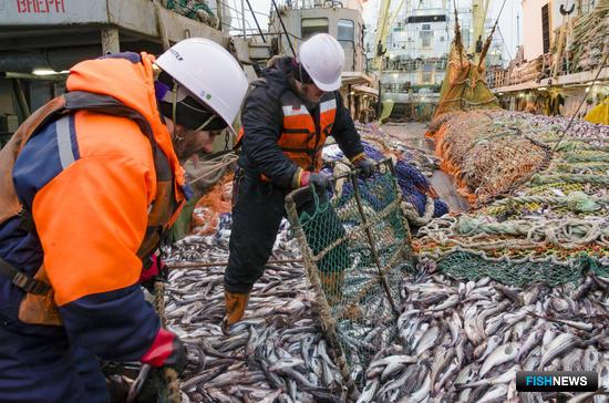 Рыбаки перевалили за три миллиона тонн