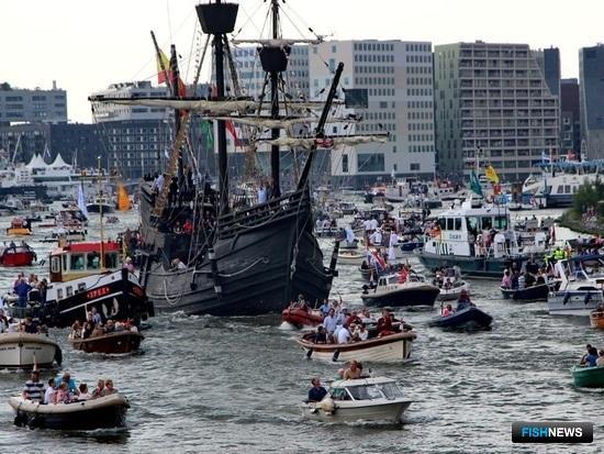 Эстафету Sail 2015 продолжил Амстердам. Фото пресс-центра МГТУ