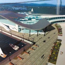 Эскиз рыбного рынка во Владивостоке. Изображение предоставлено пресс-службой администрации Приморского края