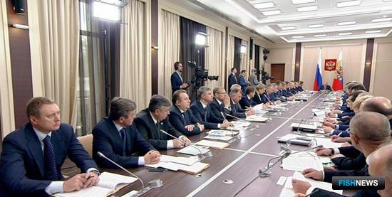 Заседание президиума Госсовета по вопросам развития рыбохозяйственного комплекса. Ново-Огарёво, октября 2015 г.