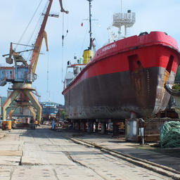 На Ливадийском ремонтно-судостроительном заводе