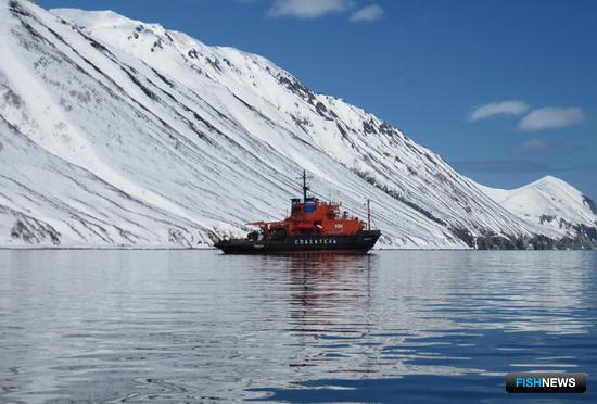Спасательное судно «Сибирский». Фото сделано членами экипажа