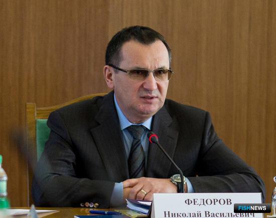 Министр сельского хозяйства Николай ФЕДОРОВ на совещании в Сахалинской области. Фото пресс-службы губернатора региона.