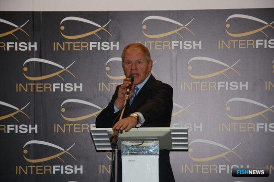 Андрей КРАЙНИЙ открывает выставку Interfish-2009