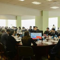 26-я сессия Смешанной российско-китайской комиссии по сотрудничеству в области рыбного хозяйства во Владивостоке. Фото пресс-службы Росрыболовства