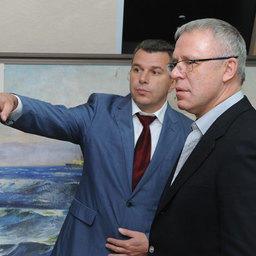 Начальник ВМРК Евгений ДУБОВИК и Вячеслав ФЕТИСОВ