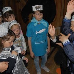 Участники квеста «Спасти лосося» в визит-центре ФГБУ «Объединённая дирекция Лазовского заповедника и национального парка «Зов тигра». Фото пресс-службы WWF