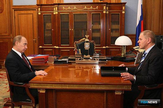 Рабочая встреча Владимира Путина с Андреем Крайним