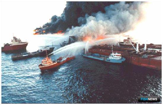 Борьба с пожарами на судах