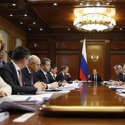 Заседание президиума Совета при президенте по стратегическому развитию и приоритетным проектам. Фото пресс-службы Правительства РФ