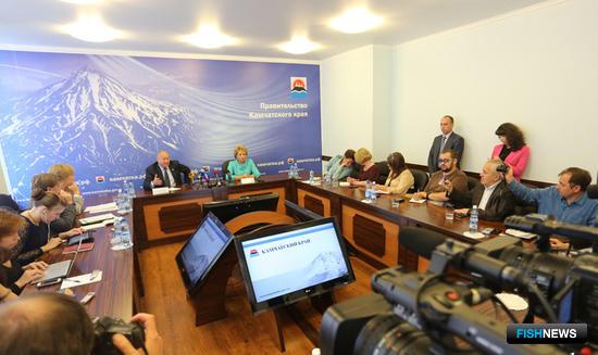 Председатель Совета Федерации Валентина Матвиенко встретилась с журналистами федеральных и камчатских СМИ. Фото пресс-службы правительства Камчатского края.