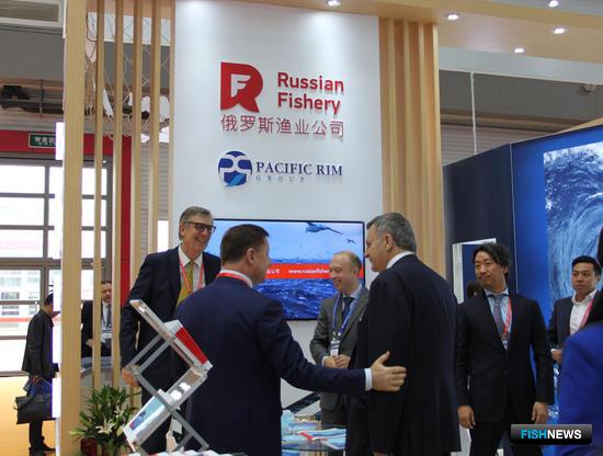 Русская рыбопромышленная компания, участник российского объединенного стенда на рыбохозяйственной выставке в Циндао China Fisheries and Seafood Expo-2017