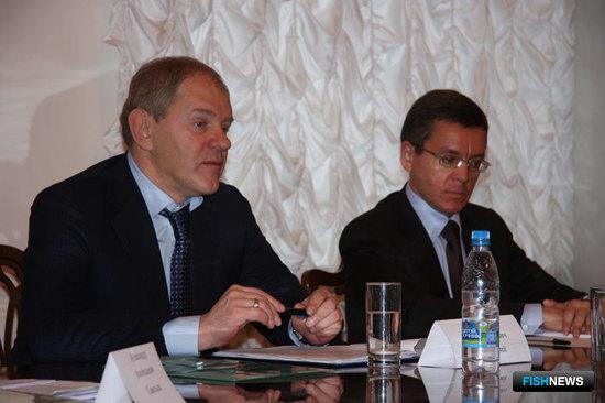 Руководитель Росрыболовства Андрей КРАЙНИЙ и президент АДМ Герман ЗВЕРЕВ