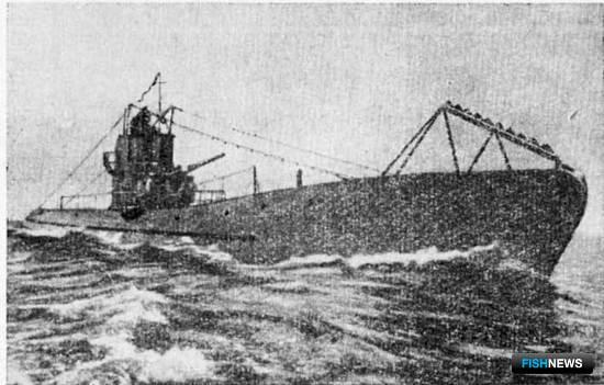 Подводная лодка типа «С» в море