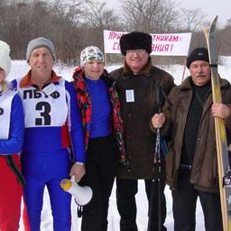 Дружная спортивная делегация ОАО «ПБТФ» после успешных финишей