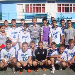 Бронзовые призеры спартакиады – команда Дальневосточного мореходного училища (ДМУ)